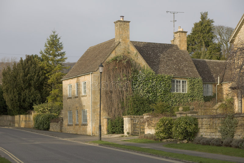 Town house. A town house on the high street broadway cotswolds worcestershire uk royalty free stock photography