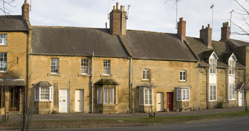 Town house. A town house high street moreton in the marsh cotswolds gloucestershire uk royalty free stock photography