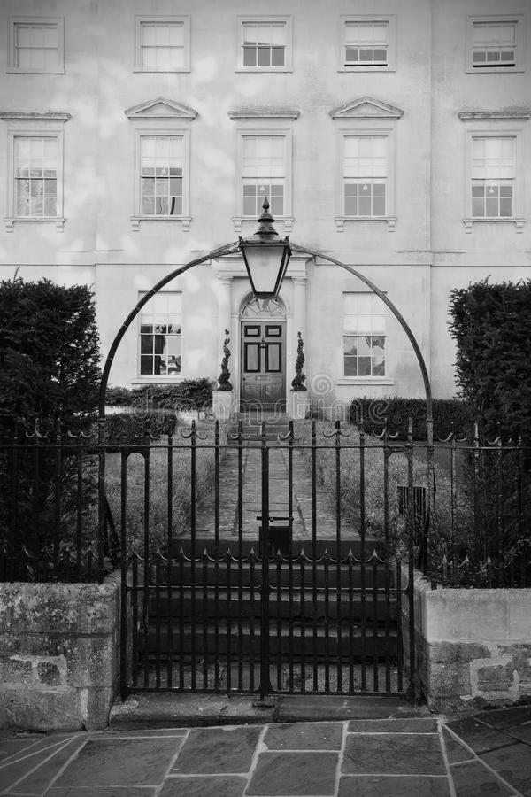 Town House Entrance. Entrance of a Luxurious London Town House royalty free stock photos