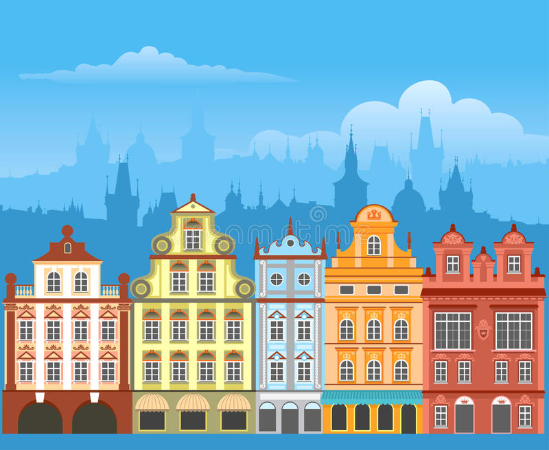 Download Town houses stock vector. Image of home, architecture - 19498553