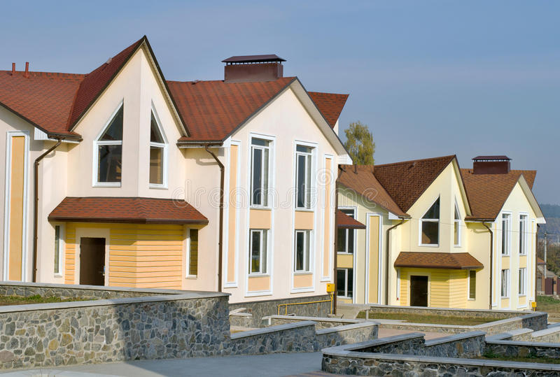 Town Houses stock image