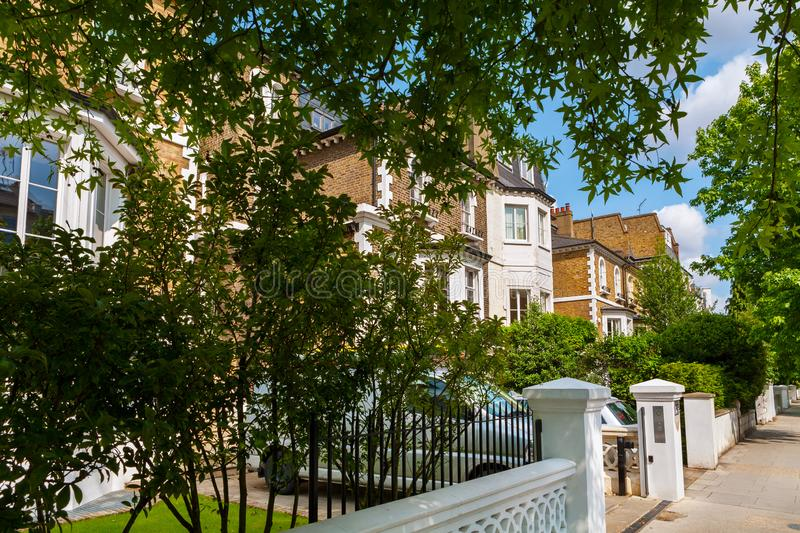 Town houses. London, England stock images