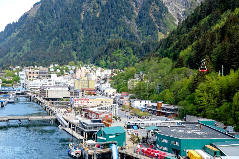 Juneau the State Capital of Alaska royalty free stock image