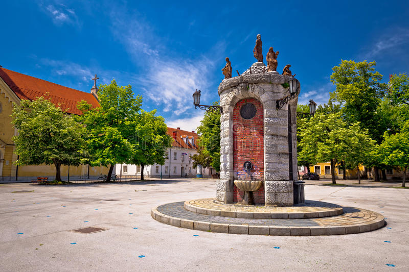 Town of Karlovac landmarks view royalty free stock photography