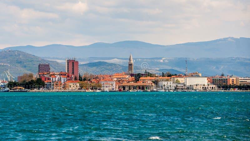 Town Koper, Slovenia. Town Koper at the coast of Adriatic sea, Slovenia stock photo