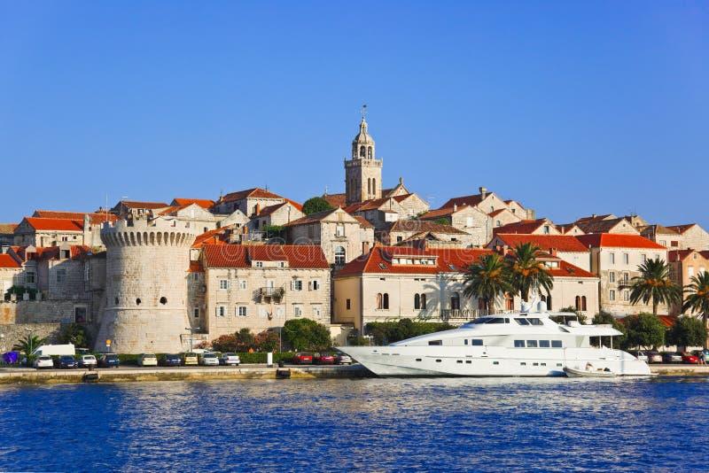 Town Korcula at Croatia stock photography