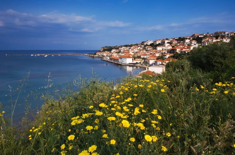 The town of Koroni, Greece stock photography