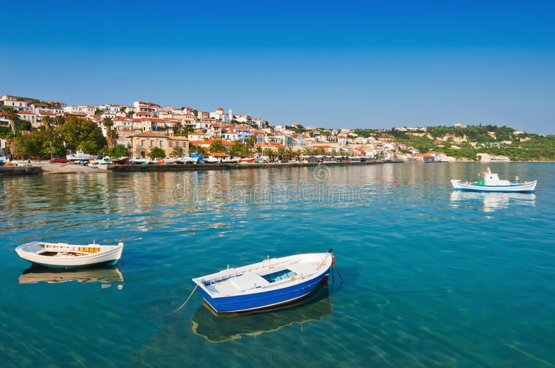 The town of Koroni, southern Greece stock photography