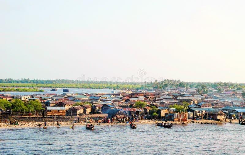 Town of lagos stock photo
