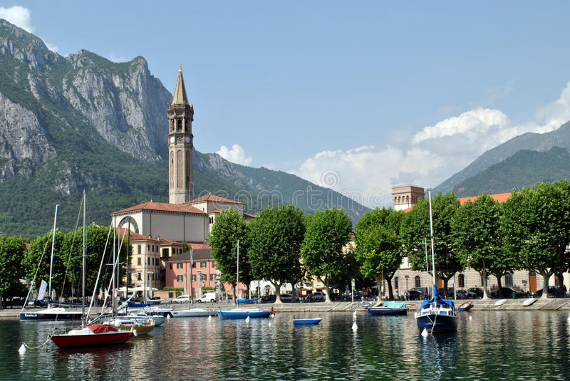 Town Lecco royalty free stock images