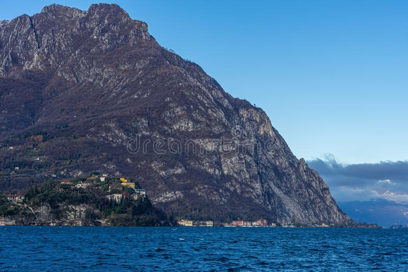 Town of Lecco, Italy in December time royalty free stock photo