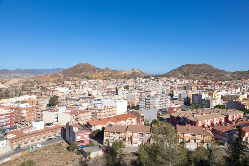 Town Mazarron. Region Murcia, Spain. View over the town Mazarron. Region Murcia, Spain royalty free stock photography