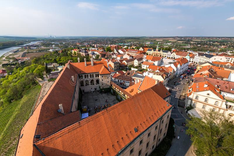 The town of Melnik. Is located in the Central Bohemian Region 30 km north of Prague stock photos