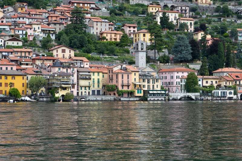 Town of Moltrasio at lake Como in Italy stock image