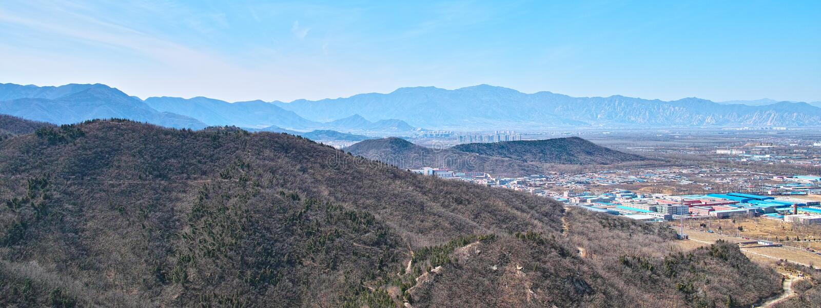 Download The Town And Mountains From Beijing Baiwangshan Peak Editorial Image - Image: 30937940