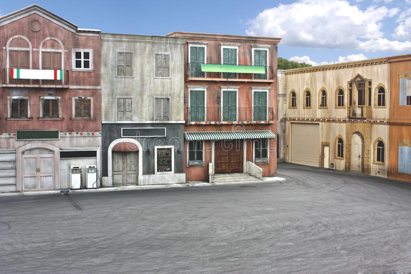 Town movie set stock images