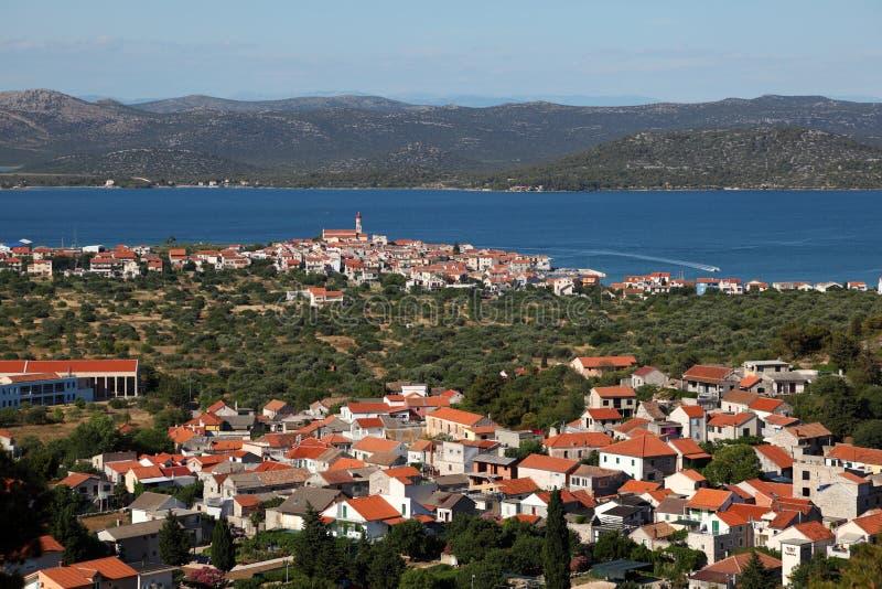 Town Murter in Croatia stock photography