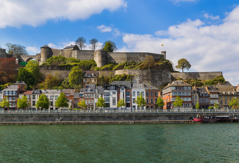 Town Namur in Belgium. Architecture background royalty free stock image
