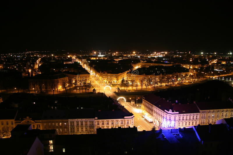 Download Town in the night stock photo. Image of hradec, dark - 14984334