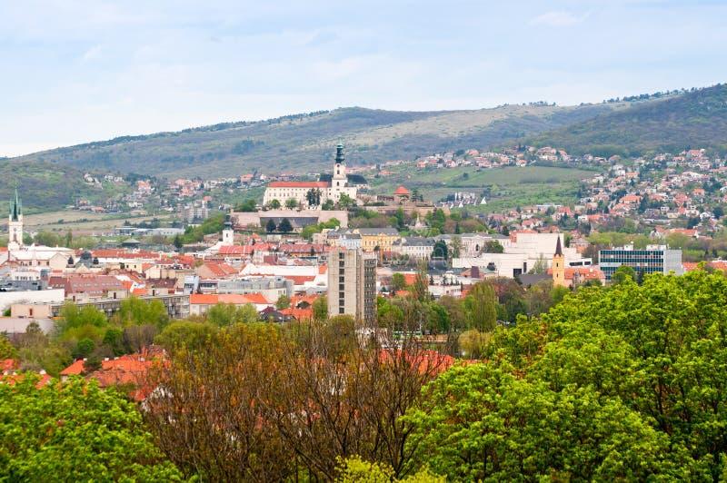 Town of Nitra, Slovakia. High-level view of town of Nitra, Slovakia royalty free stock photos