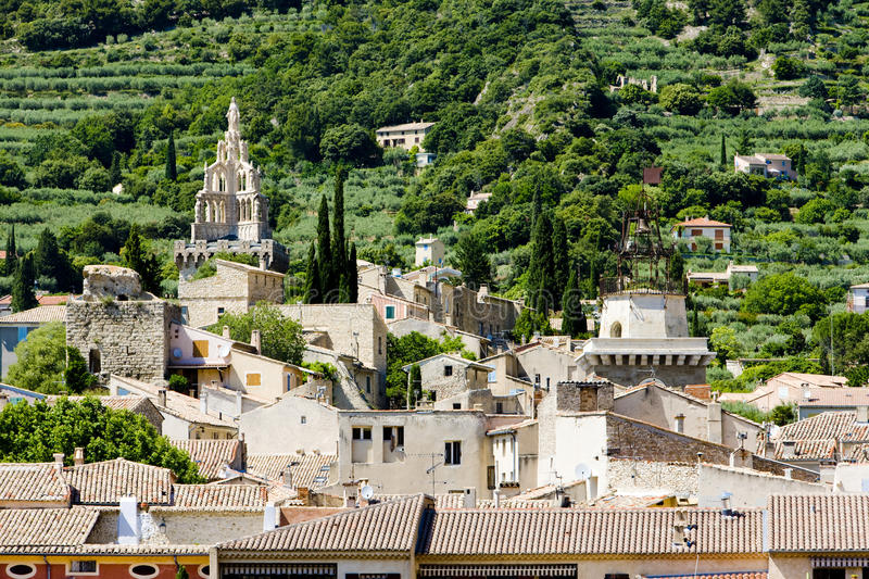 Download Town of Nyons stock photo. Image of houses, outside, rhone - 14858434