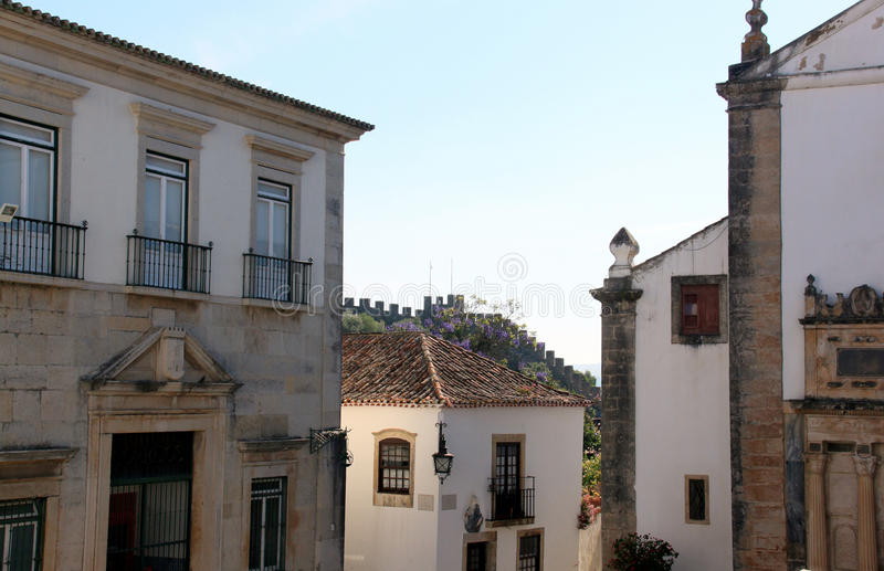 The Town of Obidos royalty free stock photo