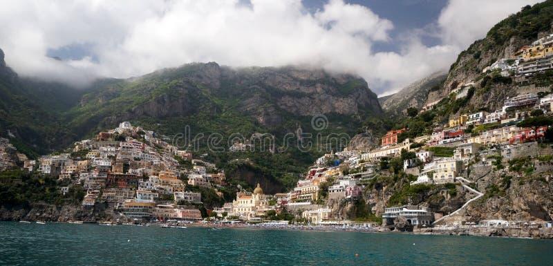 Positano on the Mediterranean Sea stock image