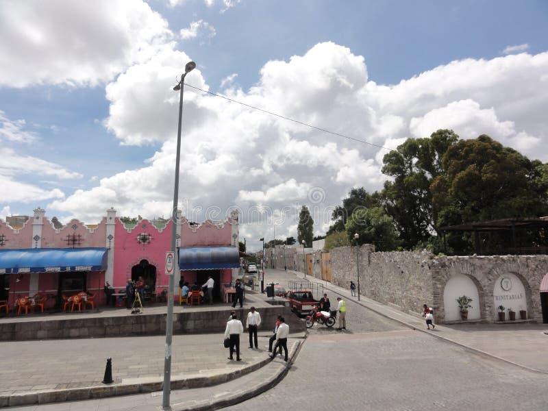 Town of Puebla, Puebla de Los Angeles - Mexico. Puebla, officially Heroica Puebla de Zaragoza, is the capital of the State de Puebla, in Mexico. The city is also stock image