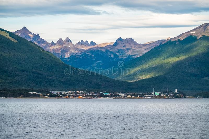 Town of Puerto Williams stock photography