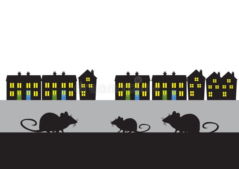 Town rats royalty free illustration