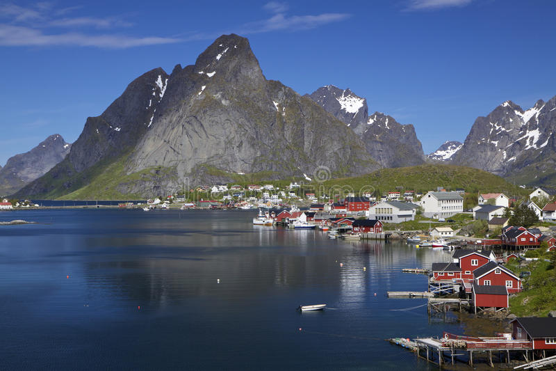 Download Town of Reine on Lofoten stock image. Image of arctic - 26598423