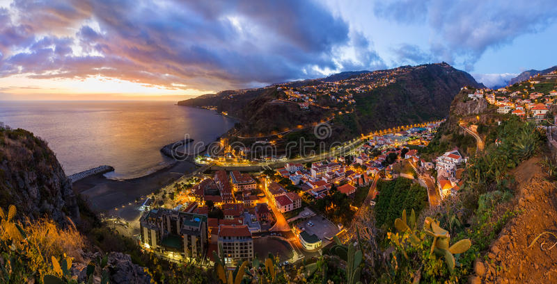 Town Ribeira Brava - Madeira Portugal. Town Ribeira Brava in Madeira Portugal - travel background royalty free stock photos