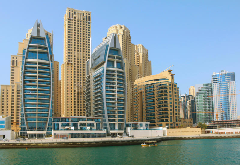 Download Town scape at summer. stock image. Image of blue, emirates - 19054549