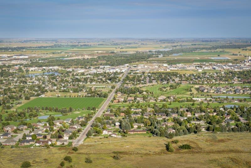 Scottsbluff and North Platte RIver in Nebraska royalty free stock photography