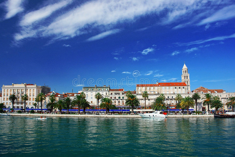 Town by the sea, Split, Hr. stock images