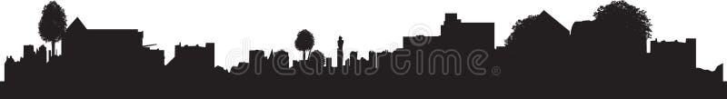 Town silhouette royalty free stock photo