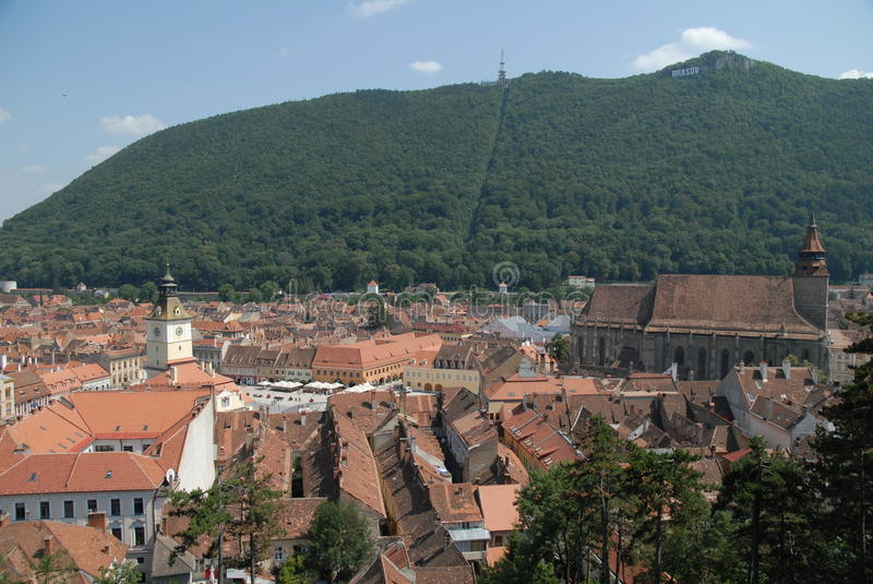 Town Square of Brasov, Romania stock photography