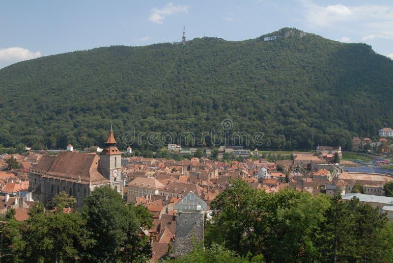 Town Square of Brasov, Romania stock image