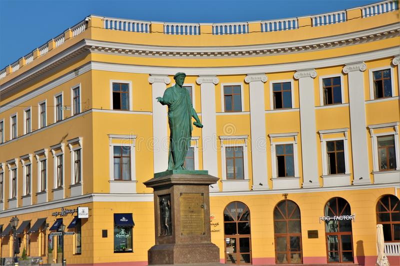 Odessa, Ukraine. Marble man statue. royalty free stock images
