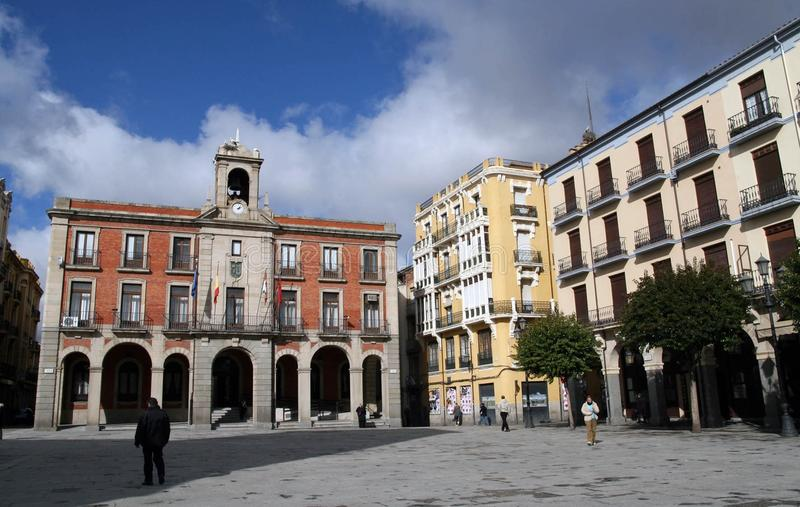 Town Square, Town, City, Plaza stock photo