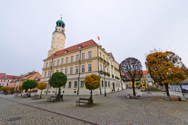 Town square of Olesnica, Poland. Town square of Olesnica - Poland stock photos
