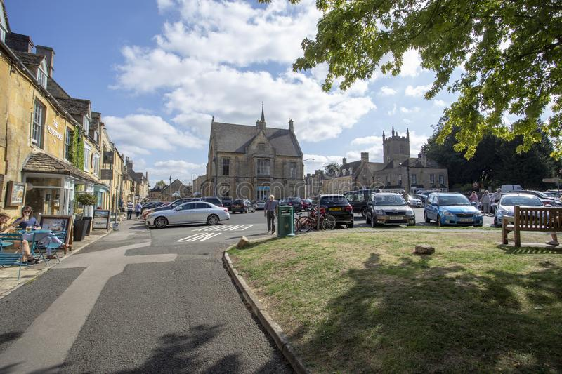 Stow in the Wold town square stock photo