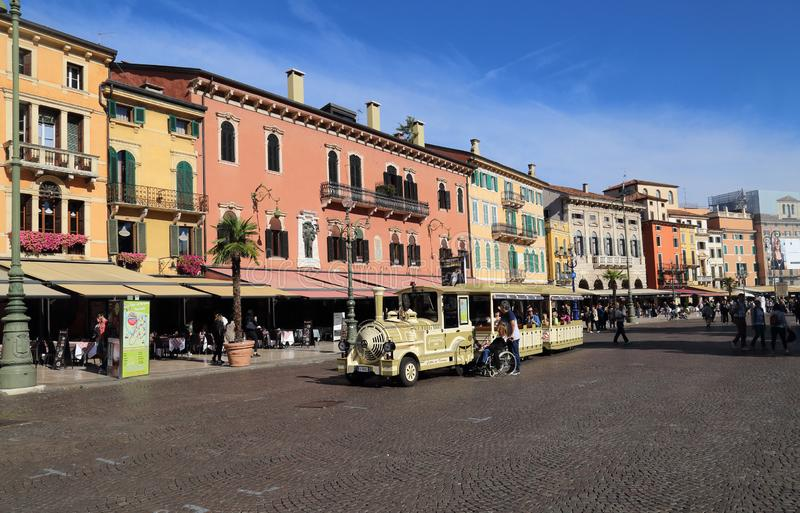 Town square of Verona, Italy royalty free stock photography