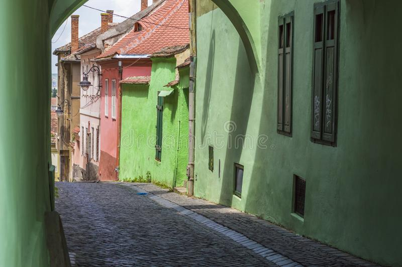 Town Street Scene stock image