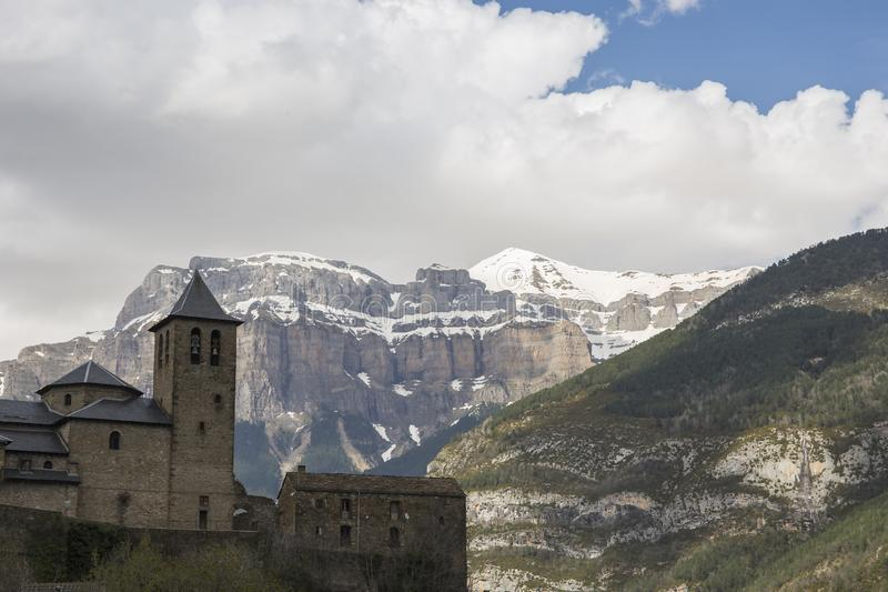 Town of Torla, Ordesa and Monte Perdido National Park stock photo