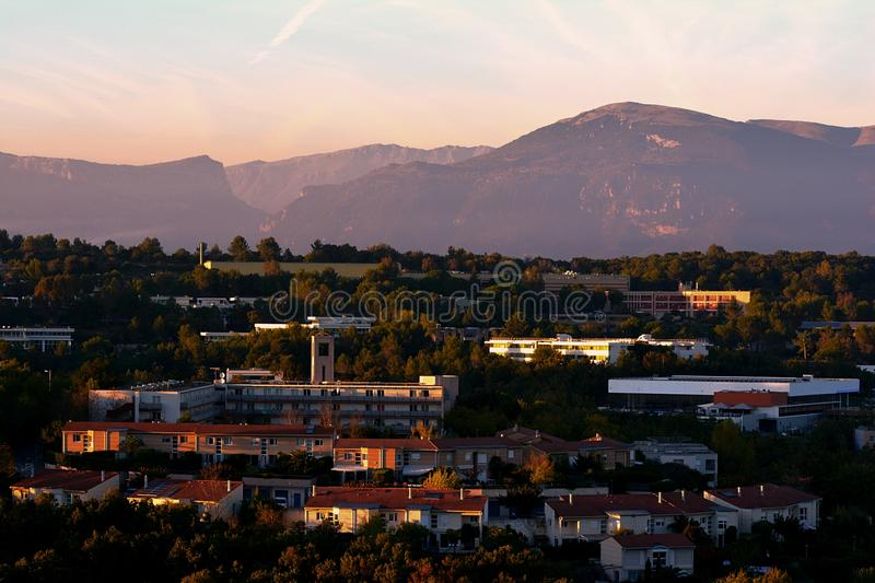 Town At Twilight In Mountain Valley Free Public Domain Cc0 Image
