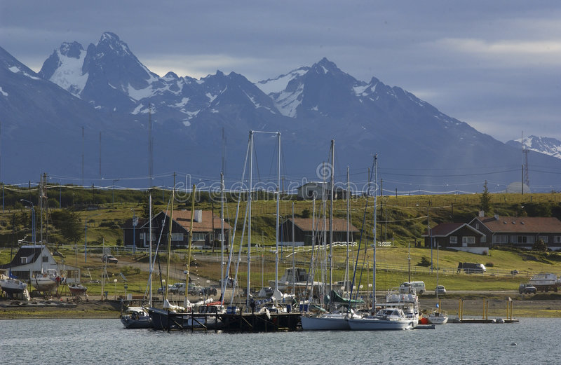 Download TOWN USHUAIA, ARGENTINA stock image. Image of bout, land - 6354397