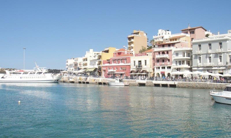 Town vid havet arkivbilder