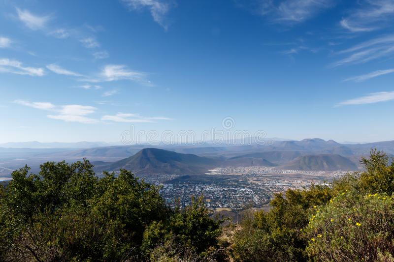 The Town View - Graaff-Reinet Landscape stock images