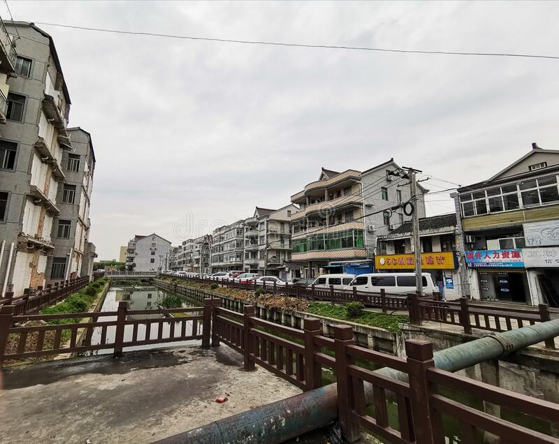 Town View, Huinan, Pudong Shanghai, China royalty free stock image